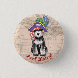 Miniature Schnauzer Pirate Pinback Button