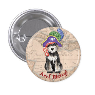Miniature Schnauzer Pirate Pinback Button