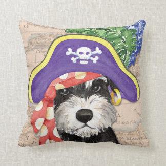 Miniature Schnauzer Pirate Throw Pillows