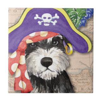 Miniature Schnauzer Pirate Tile