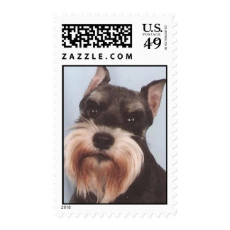 Miniature Schnauzer Postage Stamps