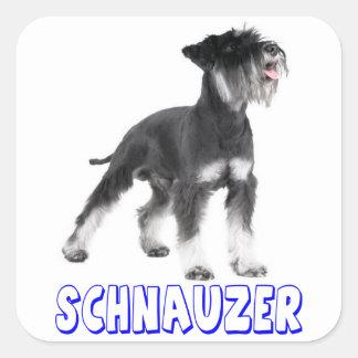 Miniature Schnauzer Puppy Dog Blue Sticker