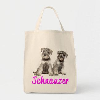 Miniature Schnauzer Puppy Dogs Canvas Tote