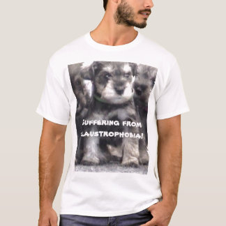 miniature-schnauzer-puppy, Suffering from claus... T-Shirt