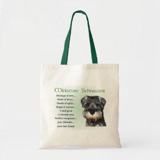 Miniature Schnauzer Puppy Tote Bag