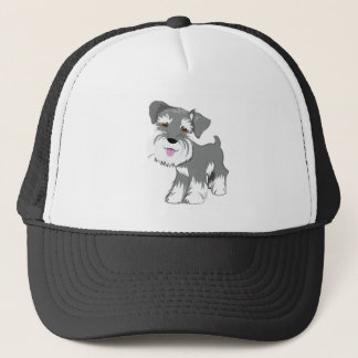 Miniature Schnauzer Puppy Trucker Hat