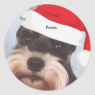 Miniature Schnauzer To From Christmas stickers