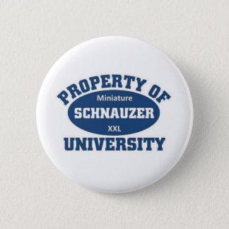 Miniature Schnauzer University Button