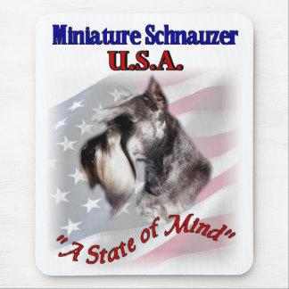 Miniature Schnauzer USA Mouse Pad