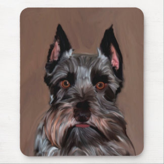Miniature Schnauzer Water Color Art Painting Mouse Pad