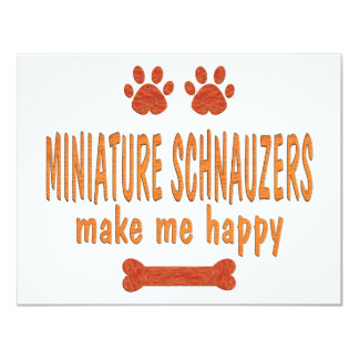 Miniature Schnauzers Make Me Happy Card