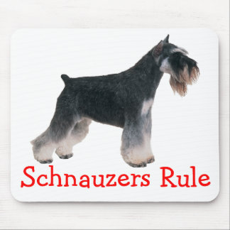 Miniature Schnauzers Rule Puppy Dog Mousepad