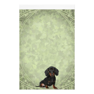 Miniature Short Haired Dachsund Stationery