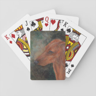 Miniature smooth haired dachshund poker deck