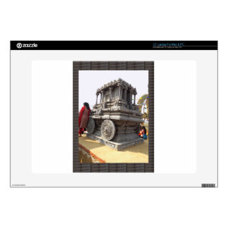 """Miniature statues stone craft temples of india 15"""" laptop skin"""