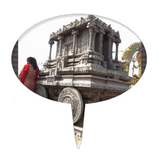 Miniature statues stone craft temples of india cake topper