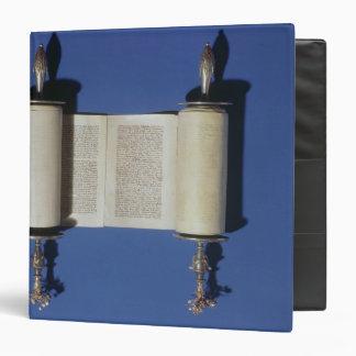 Miniature Torah Scroll, 1765 3 Ring Binder