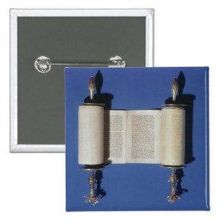 Miniature Torah Scroll, 1765 Button