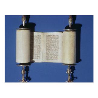 Miniature Torah Scroll, 1765 Postcard