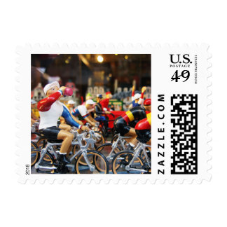 Miniature Toy Bike Race Postage Stamps