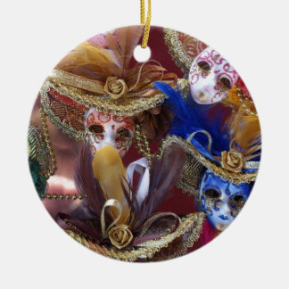 miniature Venetian masks Ceramic Ornament