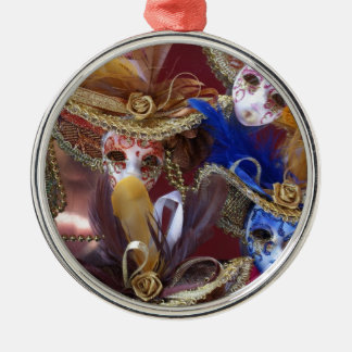 miniature Venetian masks Metal Ornament