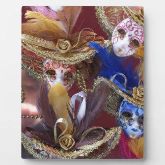 miniature Venetian masks Plaque