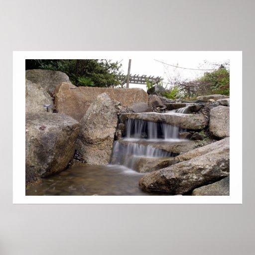 Miniature Waterfall At Bellevue Botanical Gardens Poster
