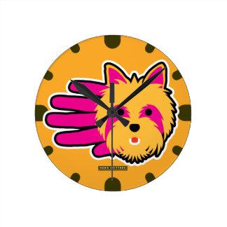 Miniature Yorkshire Terrier Round Clock