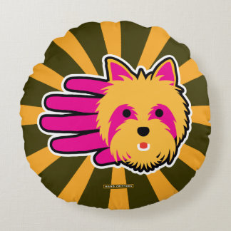 Miniature Yorkshire Terrier Round Pillow