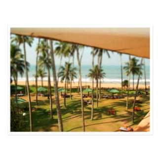Miniatures: Beach Goers Postcard