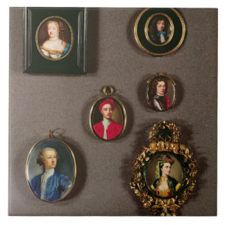 Miniatures from LtoR, TtoB: Frances Teresa Stuart, Tile