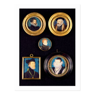 Miniatures of Hilliard's Father and Mother, self p Postcard
