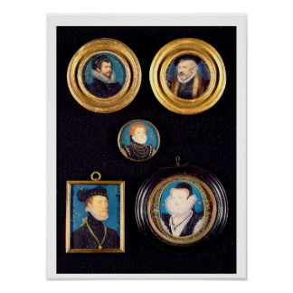 Miniatures of Hilliard's Father and Mother, self p Poster