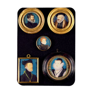 Miniatures of Hilliard's Father and Mother, self p Rectangular Photo Magnet