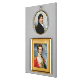 Miniatures of Young Officers of the 38th Madras Na Canvas Print