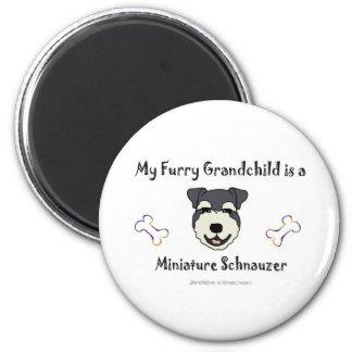 MiniatureSchnauzer 2 Inch Round Magnet