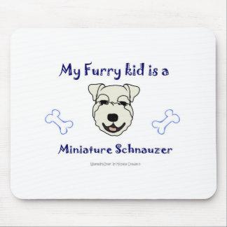 MiniatureSchnauzerWhite Mouse Pad