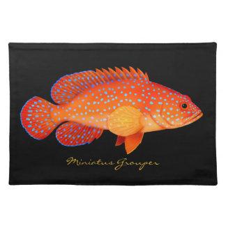 Miniatus Coral Grouper Fish Placemats