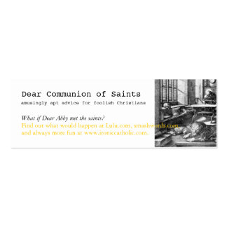 MiniBookmark, Dear Communion of Saints book Double-Sided Mini Business Cards (Pack Of 20)