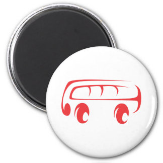 Minibus in Swish Drawing Style Magnet