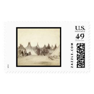 Miniconjou Indian Tipi Camp SD 1891 Postage