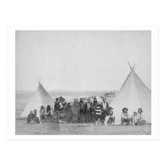 Miniconjou Indians outside Tipis Photograph Postcard