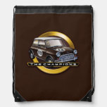 MiniCooper S brown Drawstring Backpacks