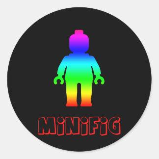 Minifig arco iris 1 cerca modifica mi Minifig pa Pegatinas Redondas