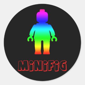 Minifig arco iris 1 cerca modifica mi Minifig pa Pegatina Redonda