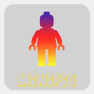 Minifig arco iris 2 cerca modifica mi Minifig pa Calcomania Cuadradas Personalizadas