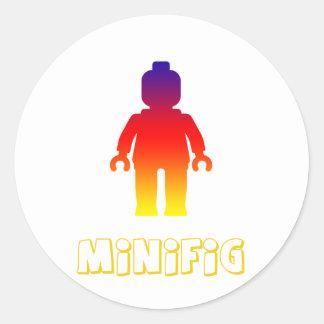Minifig [arco iris 2] cerca modifica mi Minifig Pegatina Redonda