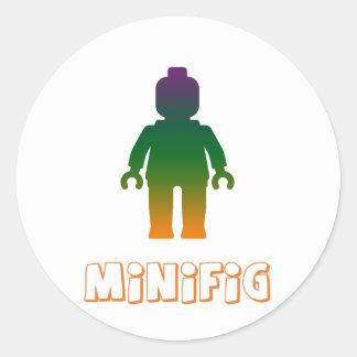 Minifig arco iris 3 cerca modifica mi Minifig pa Pegatina Redonda