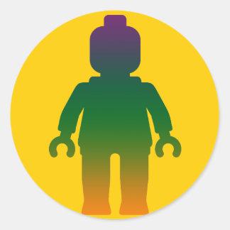 Minifig arco iris 3 cerca modifica mi Minifig pa Etiqueta Redonda